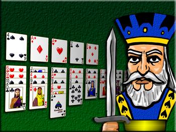 Rey y un juego de Solitario Carta Blanca